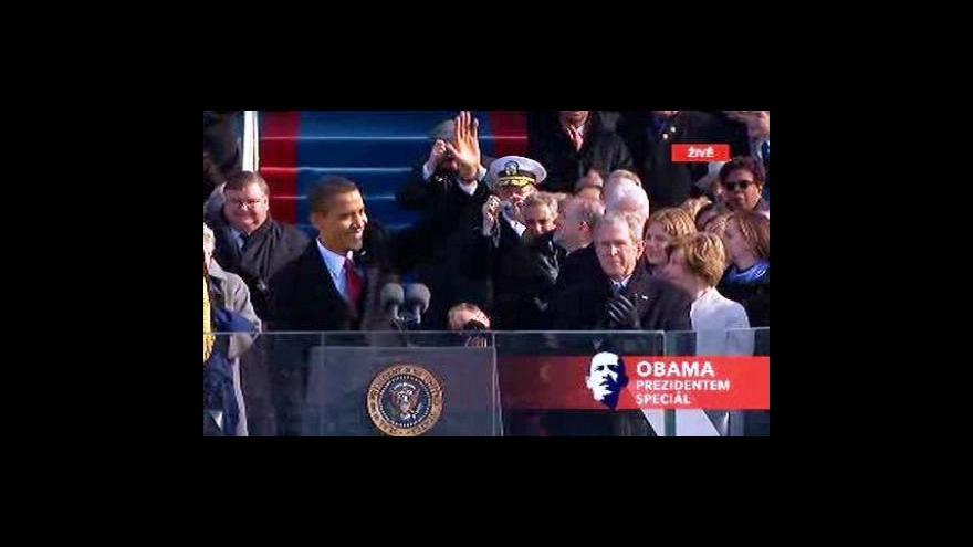 Video Obama se stal 44. prezidentem USA