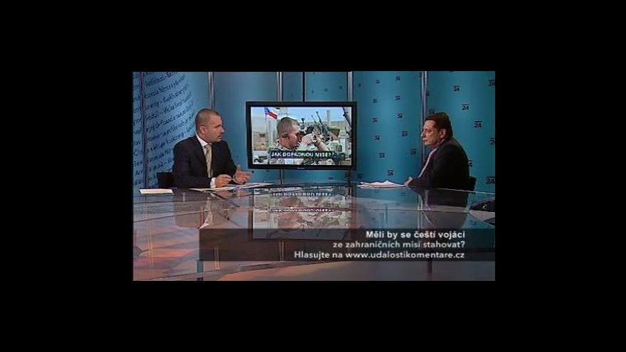 Video Jiří Paroubek v Událostech, komentářích o misích české armády