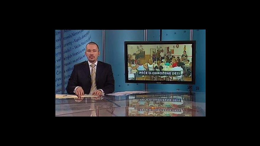 Video Anna Šabatová o péči o ohrožené děti v Událostech a komentářích