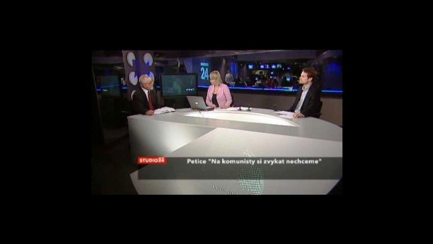 Video Studio ČT24 o petici proti komunistům