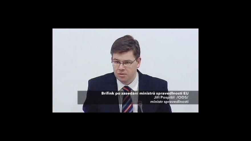 Video Tisková konference po setkání ministrů spravedlnosti EU