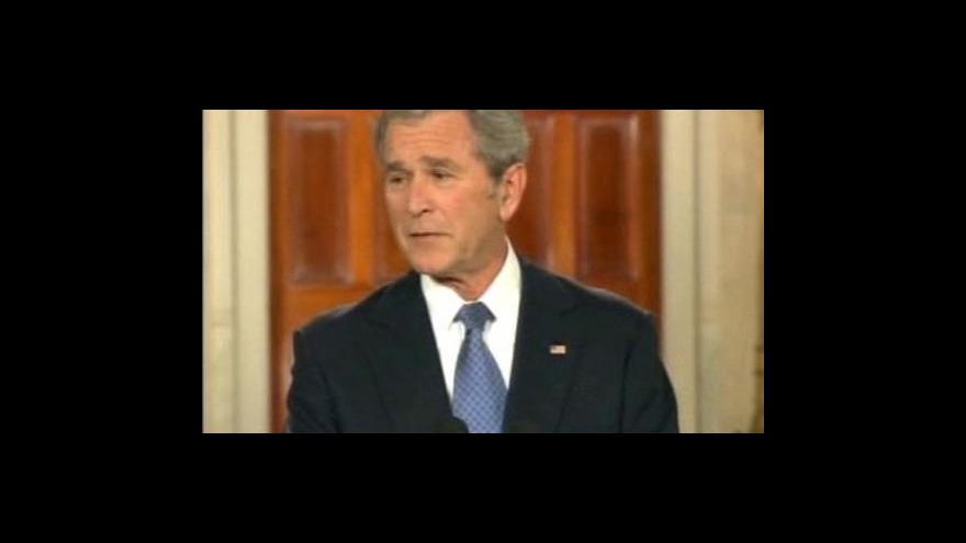 Video Bush se loučí s prezidentskou funkcí