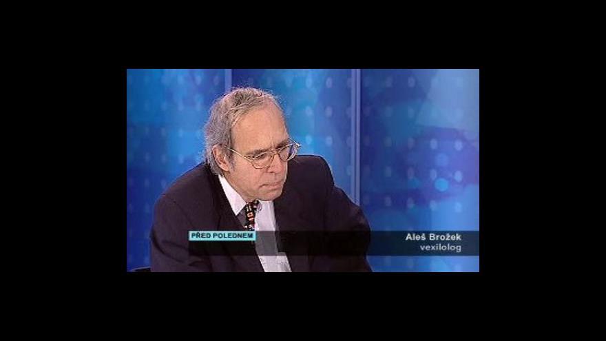 Video Rozhovor s vexilologem Alešem Brožkem