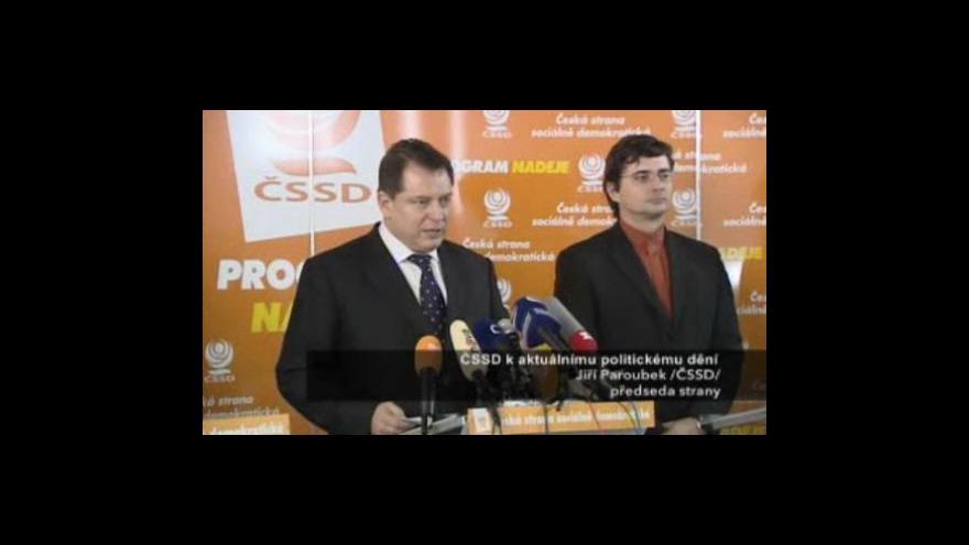 Video Brífink Jiřího Paroubka
