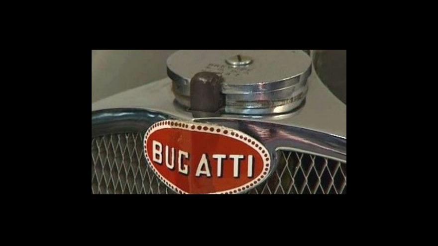 Video Do aukce jde sedmdesátiletá Bugatti
