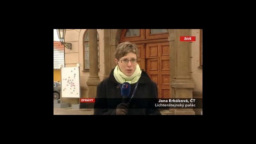 Video Vstup Jany Erbákové z Lichteštejnského paláce