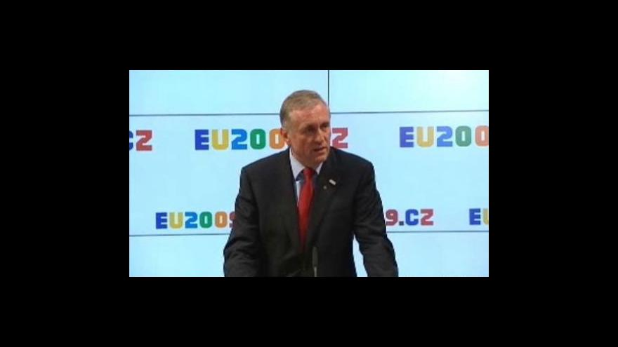 Video Topolánek a Barroso o plynu