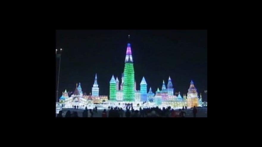 Video Festival ledu a sněhu v Číně