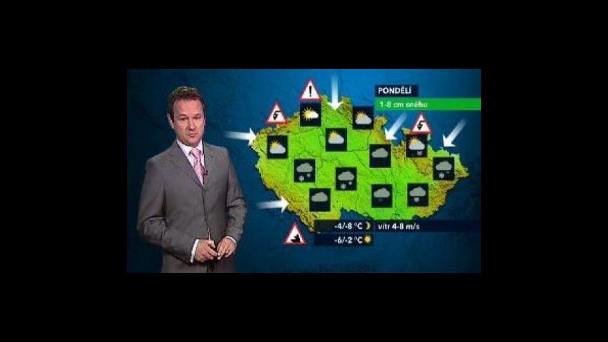 Video Předpověď počasí na následující týden