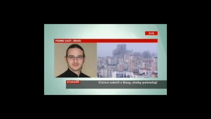 Video Studio ČT24 o situaci v Gaze