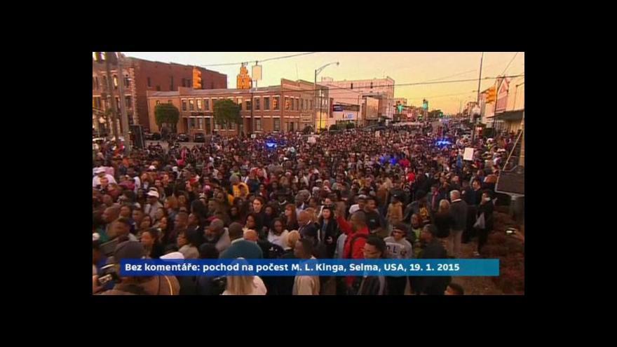 Video Bez komentáře: Američané na památku M. L. Kinga vyšli do ulic