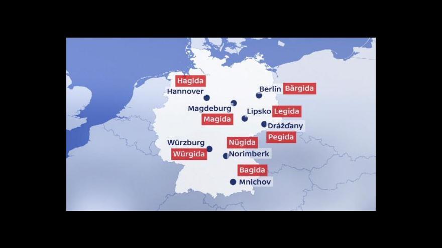 Video Hnutí Pegida se rozrůstá v Německu i mimo něj