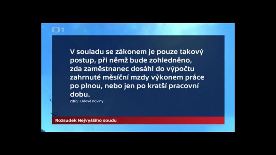 Video NS: Platy soudců a politiků jsou špatně vypočítávány