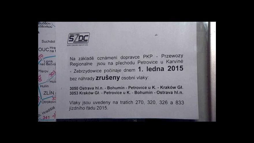 Video Poláci po třech týdnech zrušili nový přímý vlak mezi Ostravou a Krakovem