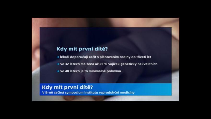 Video Zdeněk Malý: Zmrazení buněk je možnost
