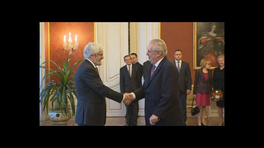 Video Prezident Miloš Zeman jmenoval předsedou NS Pavla Šámala