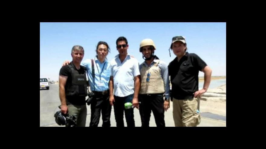 Video Unesený Japonec: Pokud se něco stane, odpovědnost je na mně