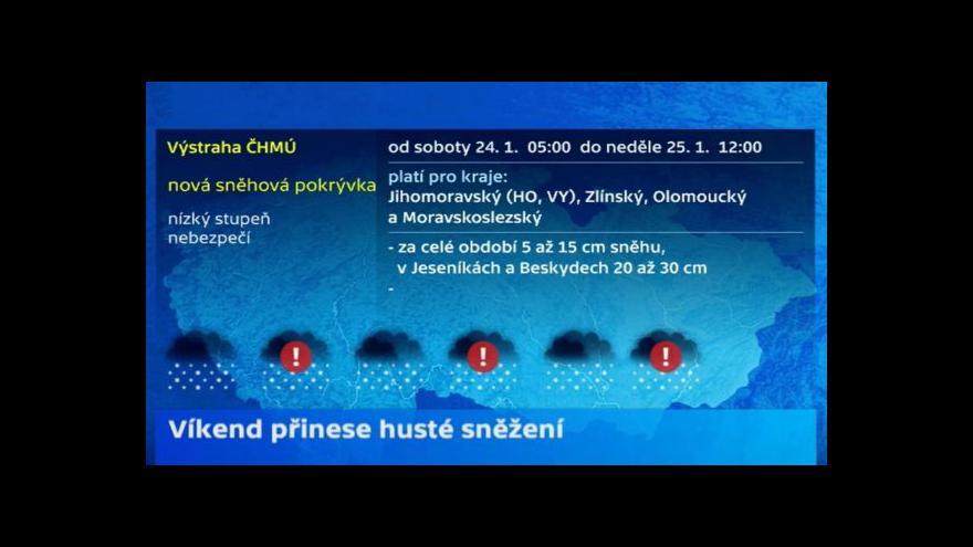 Video Meteorolog ČT Michal Žák: Pro východ ČR platí výstraha