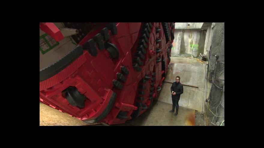 Video Štít Viktorie bude razit nejdelší železniční tunel