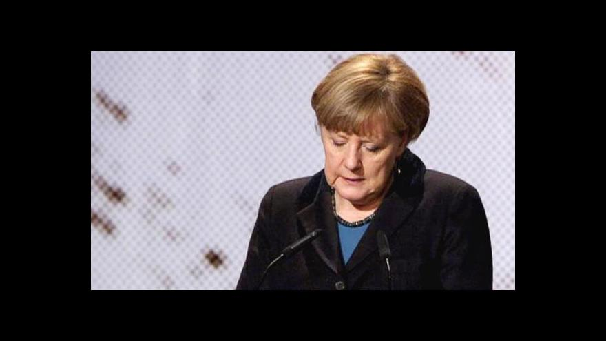 Video Merkelová: Osvětim se týká všech. Neustále