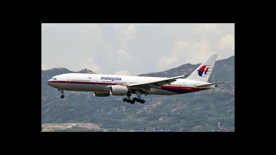 Video Velek k MH370: Je to jako hledat jehlu v kupce sena