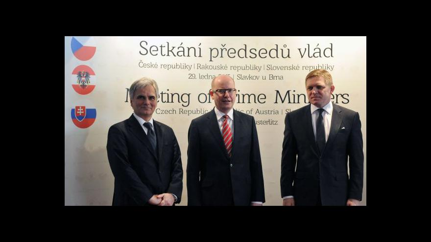 Video Brífink po setkání premiérů visegrádské skupiny
