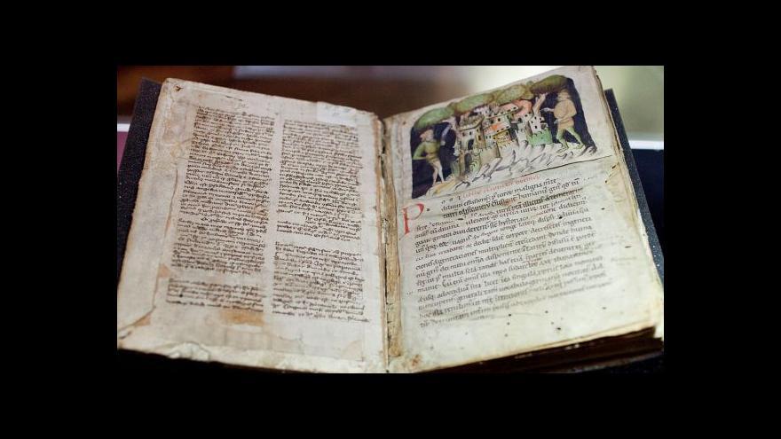 Video Na Hradě je tři dny vystaven Budyšínský rukopis Kosmovy kroniky