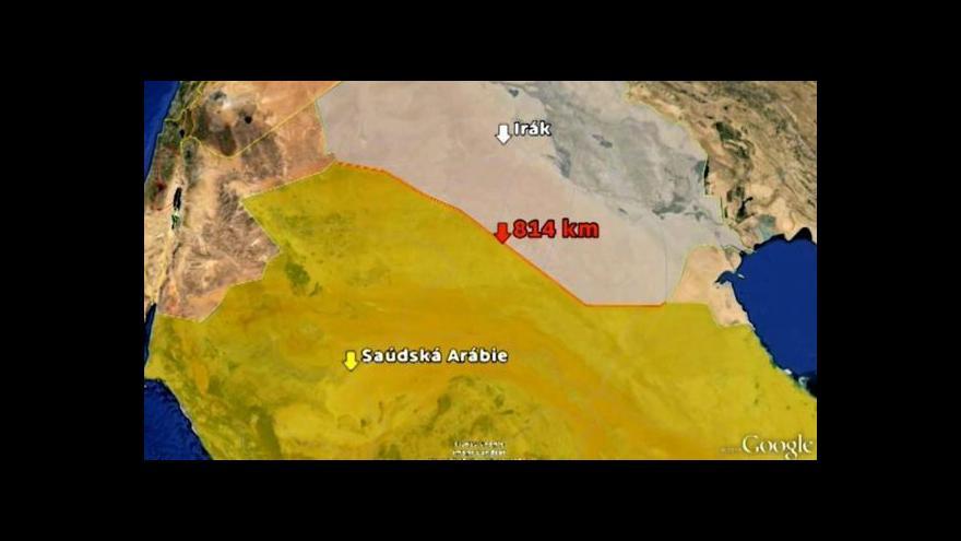 Video Saúdská Arábie staví důkladnou zeď na hranici s Irákem