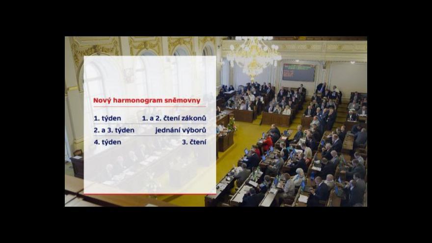 Video Na jednání výborů budou nově dva týdny