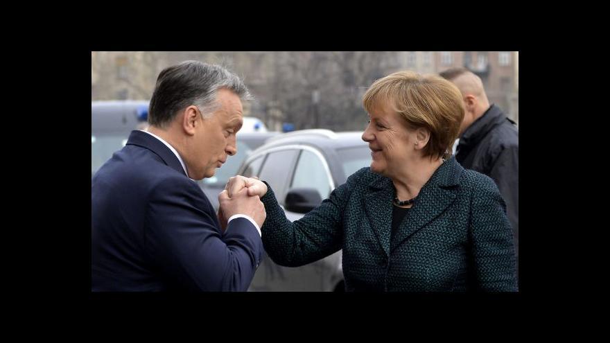 Video Merkelová testovala v Budapešti Orbánův postoj k Rusku