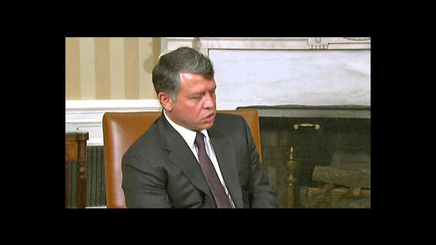 Video Miloš Zeman udělí jordánskému králi Řád bílého lva