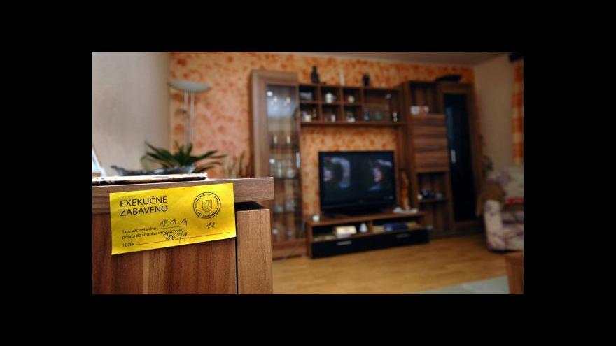 Video Otázky Václava Moravce o teritoriálním uspořádání exekutorů