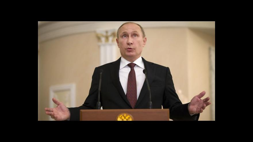 Video Putin: Zásadní je, že jsme se dohodli na zastavení bojů