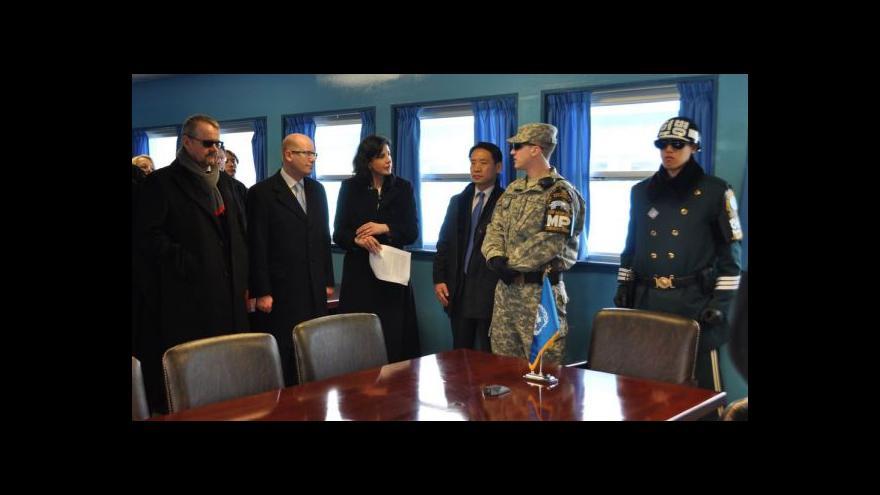Video Sobotka navštívil hranici Jižní a Severní Koreje