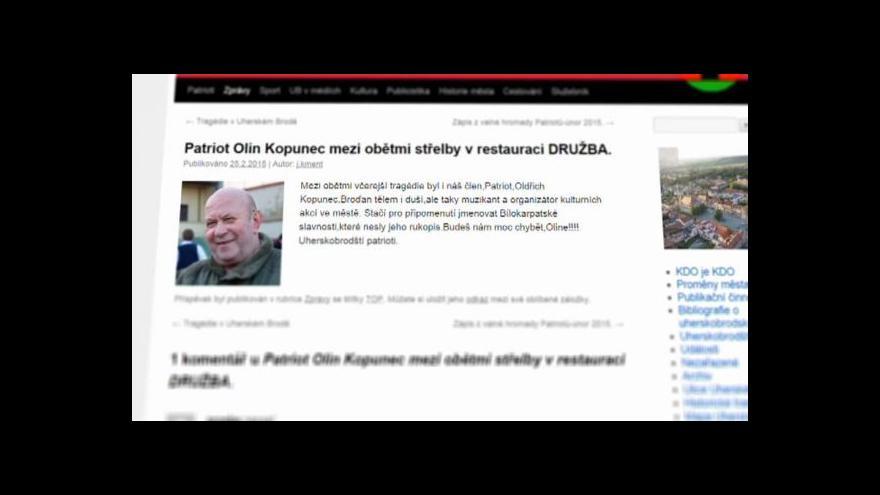 Video Jednou z obětí v Uherském Brodě byl Oldřich Kopunec