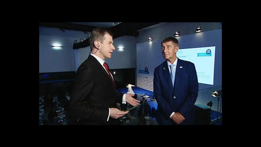 Video Blok Událostí ČT ze sněmu ANO - vedení, profily a vztahy v koalici