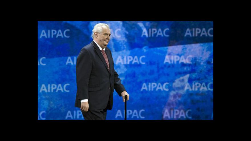 Video Prezident Zeman ve Washingtonu
