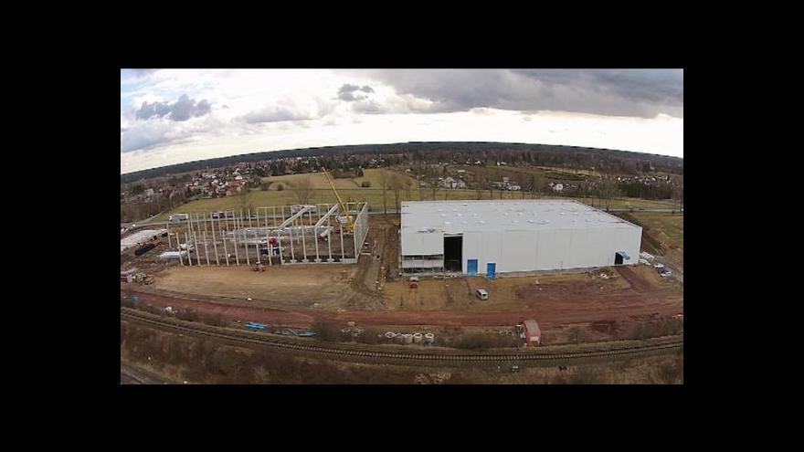 Video Skladový areál v Hradci Králové staví CTP načerno