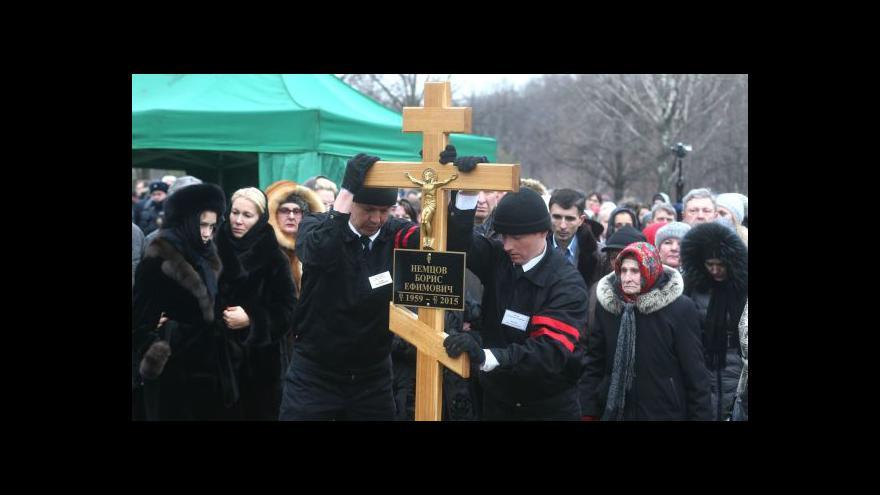 Video Události, komentáře k pohřbu Němcova