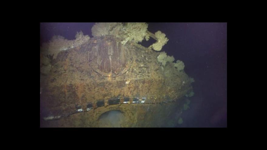 Video Allen nalezl vrak válečné lodi Musaši