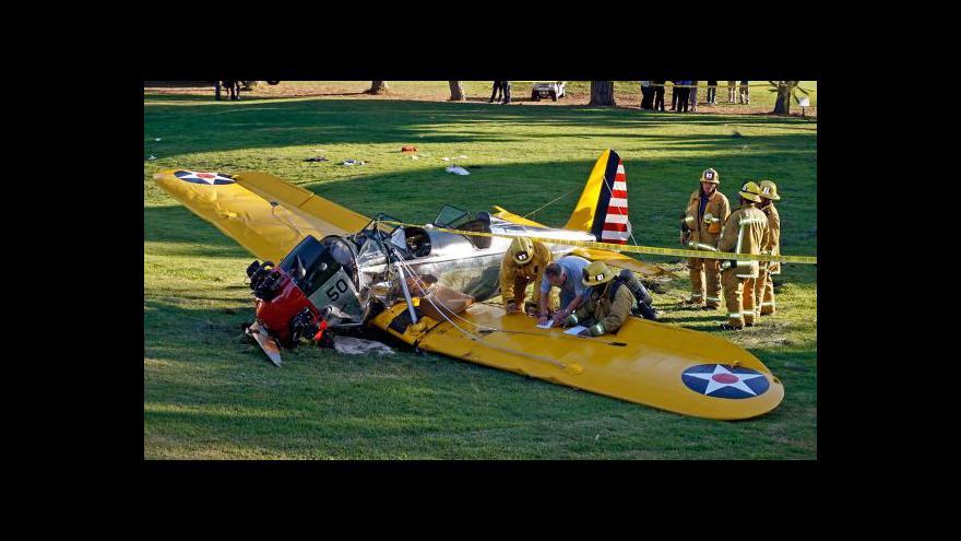 Video Reportáž: Harrison Ford spadl s letadlem