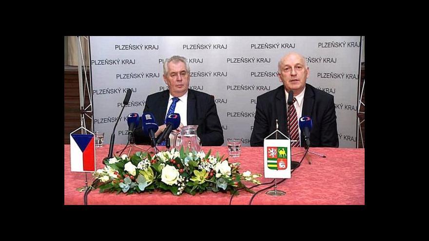 Video Miloš Zeman o ČT: Neplní veřejnoprávní funkci