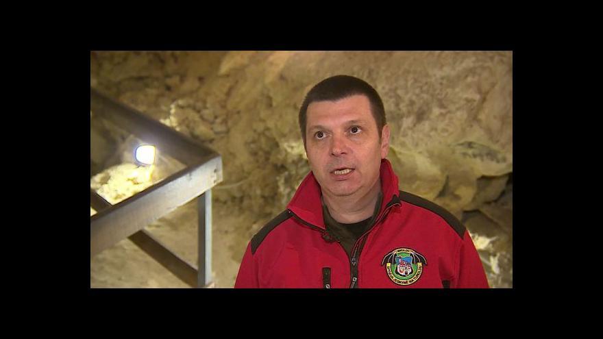 Video O zimování netopýrů hovoří vedoucí správy jeskyně Jiří Kolařík