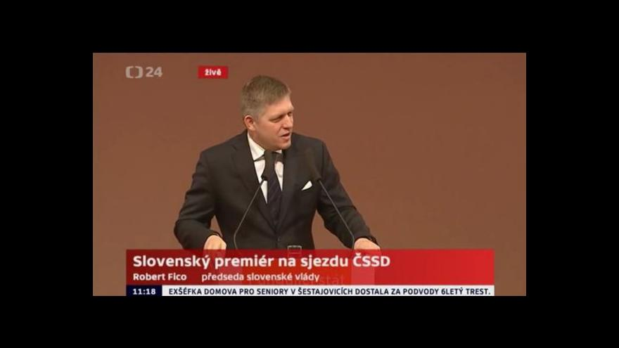 Video Vystoupení Roberta Fica na sjezdu ČSSD
