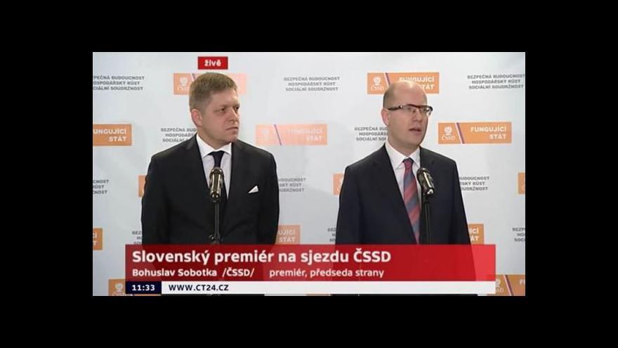 Video Společný brífink Roberta Fica a Bohuslava Sobotky