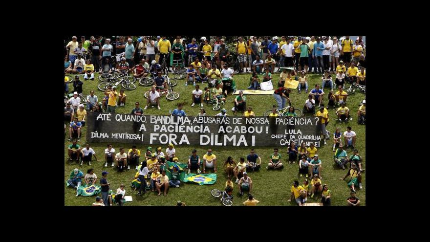 Video V Brazílii protestuje milion lidí