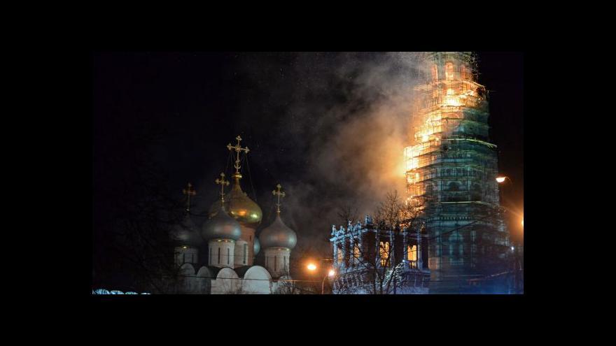 Video V Moskvě hořela jedna z hlavních dominant města