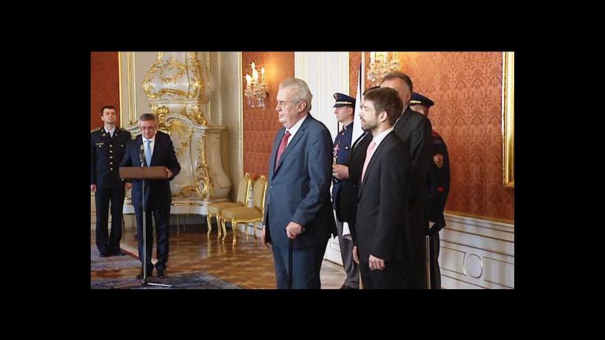 Video Miloš Zeman jmenoval nové soudce