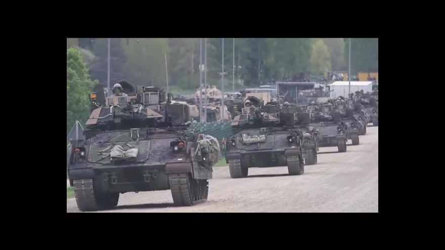 Video Události ČT: Konvoj - česká armáda se chystá, Vyškov je překvapen