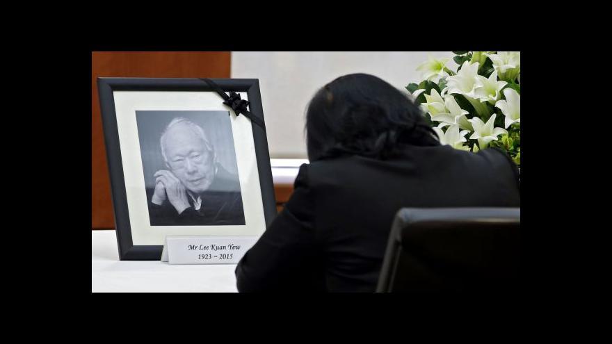 Video Zemřel první premiér Singapuru